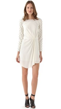 Tibi Draped Dress with Studs - REMEMBER this site for shopping!!