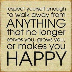 "Walking away is okay. When the thought comes to mind, ""I'm not happy"" or ""I'm done with this"", walk away knowing you're acting in your own best interest. I love the phrase, ""Take the lesson, leave the teacher"". Express gratitude and be on your way. There much to experience and discover without the limitations."