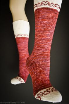Fair-Isle hearts socks on the CSM.