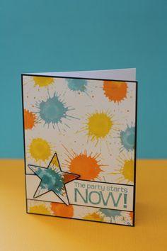 A card using Tim Holtz distress stains by Pamela Bernhardt