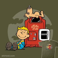 """""""Dogmuts"""" by Olipop Vault Boy and Dogmeat are very good friends. Fallout in the style of Peanuts"""