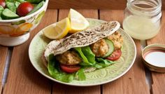BBC - Food - Recipes : Homemade falafels with salad and pitta bread