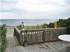 A true beach house. Check out the view from the dune deck onto the beach in this Sandwich vacation rental in Cape Cod.