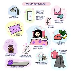 Yan's period self-care guide Period Kit, Period Hacks, Caffeine And Alcohol, Self Care Bullet Journal, Vie Motivation, Self Care Activities, Self Improvement Tips, Self Care Routine, Girls Life