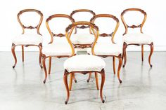 Antique Victorian Balloon Style Back Dining Chairs