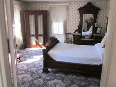 Lizzie Borden house - this room was the guest bedroom at the time of the murders, and was the scene of Mrs. Abby Borden's murder.
