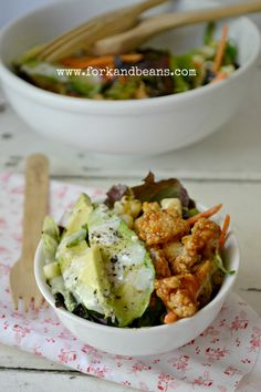 BBQ Cauliflower Salad - Fork & Beans