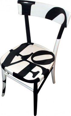 sedia dipinta Love 4