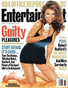 A cover gallery for Entertainment Weekly Yasmine Bleeth, 80s Hair Metal, Magazine Advert, Star Actress, Planet Of The Apes, Baywatch, Entertainment Weekly, Bombshells, Celebrity Crush