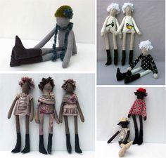 """quirky handmade fabric dolls"""