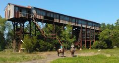 Coal mine. One of the last standing in Arkansas.  Near Clarksville, AR.  My father and Grandfather worked there.