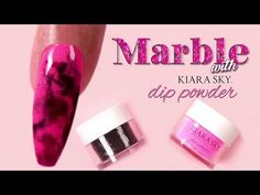 This easy to do marble design uses Kiara Sky Dip Powder in two different colors for this original technique. You may have seen other marble looks done by spr. Colorful Nail Designs, Nail Art Designs, Dip Dye Nails, Ballerina Nails Shape, Art Deco Nails, Marble Nails Tutorial, Marble Acrylic Nails, Asian Nails, Nail Techniques