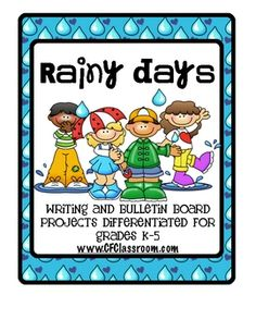 APRIL SHOWERS - RAIN: A differentiated writing resource for grades K-5. This resource contains 15 printable pages of thematic materials to use in your K-5 classrooms.     There are 4 full color printables to be used as class book covers or as titles on your bulletin boards when displaying the student writing