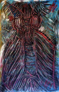 """Pipistrello"" 2012 Tecnica mista su cartoncino 58x38 ©Pietro Gargano"