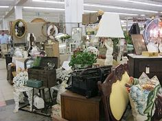 Scott Antique Market - my favorite place to shop for treasures! Held in Atlanta every month.