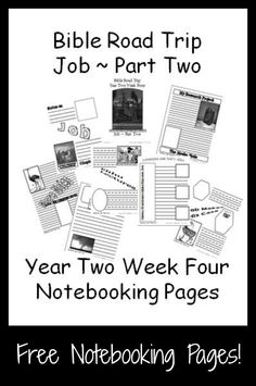 {Free Printable Notebook Pages} Bible Road Trip ~ Year Two Week Four