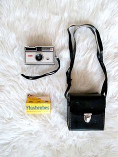 Vintage 1960s Kodak Instamatic 104 Camera with Camera Case Flashbulbs by FreshtoDeathVintage on Etsy
