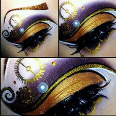 Steampunk eyeshadow ~ I don't like a lot of makeup, but this is really pretty