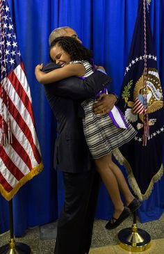 President Barack Obama hugs Mari Copeny, 8, backstage at Northwestern High School in Flint, Mich., May 4, 2016. Mari wrote a letter to the President about the Flint water crisis. (Official White House Photo by Pete Souza)  This official White House photograph is being made available only for publication by news organizations and/or for personal use printing by the subject(s) of the photograph. The photograph may not be manipulated in any way and may not be used in commercial or political…