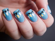 #Nail art – Beauty Works London  Love! So cute for Christmas!!