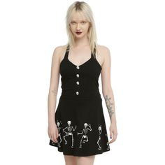 Hot Topic Too Fast Dorothy Dancing Skeletons Dress ($36) ❤ liked on Polyvore featuring costumes, white costumes, x ray costume, dorothy halloween costume, dorothy from wizard of oz costume and xray costume