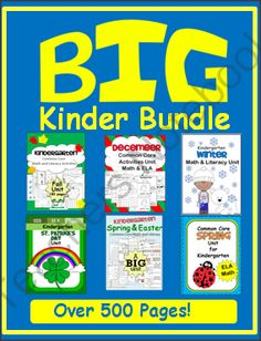 Win A Bundle Of Kindergarten Activities - Fill your Kindergarten file with hundreds of worksheets and activities for the whole year.  There are worksheets, mini-books, small group centers, art, and more ranging from basic skills to advanced.  There is so much included, that you can pick out the pages that suit your student's specific needs.  Good luck!.  A GIVEAWAY promotion for Big Kindergarten Activity Bundle from Fun Classroom Creations on TeachersNotebook.com (ends on 2-7-2014)
