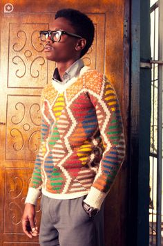 Maxhosa knitwear for young Xhosa men South African Fashion, Fashion Prints, Menswear, Mens Fashion, Designer Knitwear, Sweaters, Clothes, Patterns, Inspired