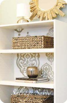Great tutorial to paint a laminate bookcase. I'm thinking I'll add a little molding to mine, then paint away!