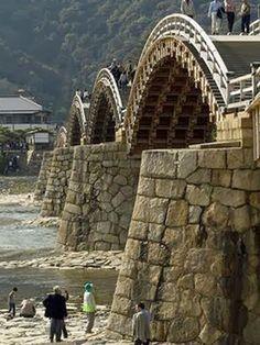 Amazing Bridges - Historical wooden arch bridge Japan