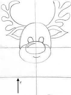 Learn how to paint a cute Rudolph reindeer step by step. This is a great acrylic painting you can do with the kids! There is a free traceable but you can also learn how to draw the reindeer and transfer it to your canvas. Paint Marker Pen, Paint Pens, Step By Step Painting, Step By Step Drawing, Drawing Projects, Drawing Ideas, How To Draw Ears, Acrylic Paint Brushes, Directed Drawing