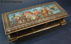 Lot 388 - Vintage Cadbury Bournville tin - Three British Queens - embossed trim to lid with imagery to top and bottom of Tim