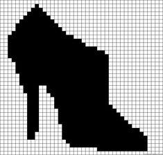 High Heel shoe perler bead pattern