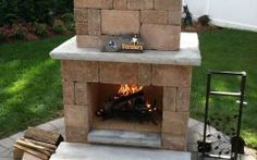 Paver Fireplace