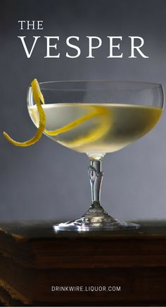 Learn how to make one of James Bond's signature drinks, the Vesper. Mix up this classic and you'll be sure to feel like 007 himself! #vesper #cocktail