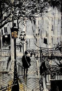 "Saatchi Art Artist Loui Jover; Drawing, ""arrondissement"" #art"