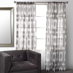 "Esha Panels -4-96"" Charcoal from Z Gallerie  #zgallerie"