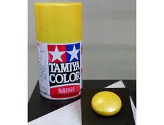 The Tamiya TS-97 Pearl Yellow Acrylic 100ml Spray Paint is just one of many colours from the Tamiya spray paints range.