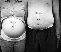 Amusing photo idea if your nearest and dearest has got a little bit of a beer belly.