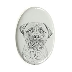 Bullmastiff, oval gravestone from ceramic tile with an image of a dog >>> Want additional info? Click on the image. (This is an affiliate link and I receive a commission for the sales) #MyDog