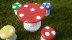 Mushroom #Garden table and stools for sale on Adverts.ie