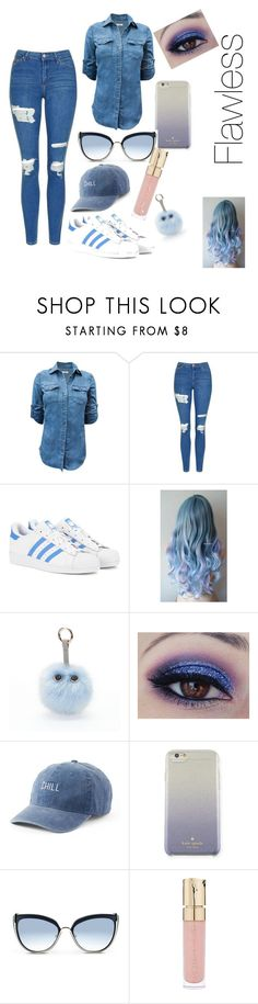"""blue cu gray te"" by mulalexus ❤ liked on Polyvore featuring Topshop, adidas Originals, Under One Sky, SO, Kate Spade, Karl Lagerfeld and Smith & Cult"