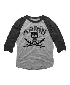 Loving this Vintage Smoke 'Arrr!' Raglan Tee - Toddler & Boys on #zulily! #zulilyfinds