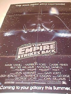 Empire Strikes Back Poster Rare Advance 1 Sheet NSS by MAYSVTG, $324.95