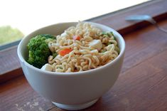 Upgrade your Ramen noodles! Add some frozen veggies to the noodles while they cook! **IMPORTANT: USE 1/4-1/2 SEASONING PACKET ONLY** For protein, buy veggies that have edamame (soy beans) and/or add diced chicken/turkey!