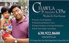 You may need a CPA for the tax season...contact Chawla!