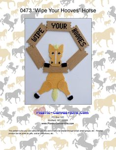 Wipe Your Hooves-Horse-Plastic Canvas Pattern-PDF Download