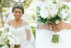 Traditional ivory bride's bouquet