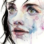 Italian painter Silvia Pelissero aka Agnes-Cecile (previously) Watercolor with video