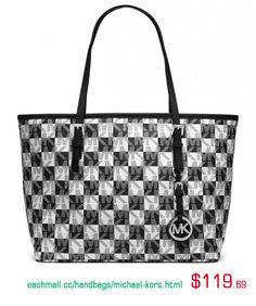 Michael Kors Leather Handbags-Eachmall.cc