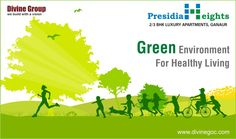 #PresidiaHeights of #DivineGroup is rich on greenery so that you can breath fresh to live healthy & naturally.